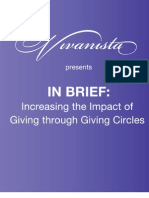 Vivanista in Brief - Giving Circles