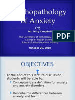 Psycho Pathology of Anxiety