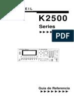 Manual Kurzweil K2500 Espaol