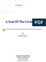 Joseph Bates - A Seal of the Living God