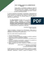 Democratizacion Y Control Social de La Admin is Trac Ion Publica