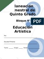 5to Grado - Bloque 5 - Educacin Artstica