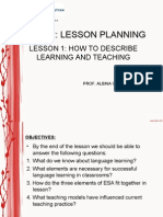 How to Describe Learning and Teaching