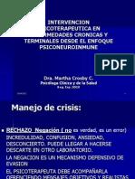 intervenciòn Psicoterapeutica en enfermedades crònicas y terminales desde enfoque psiconeuroinmun