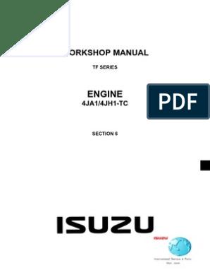 Manual Motor 4ja1 | Internal Combustion Engine | Turbocharger on