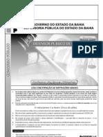 Prova para defensor público do estado da Bahia CESPE 2010