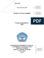 Contoh Format Proposal Tugas Akhir