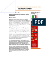 Femicide in Mexico and the Tolerance for Violence Against Women