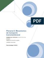 Mecanismos de Transporte Transmembranal
