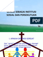Gereja Sebagai Institusi Sosial Dan Persekutuan