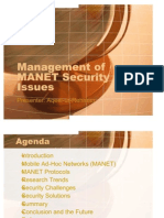 Management of MANET Security Issues