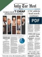 The Daily Tar Heel for September 8, 2011