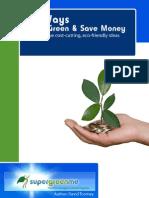 101 Ways to Go Green & Save Money