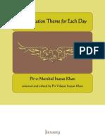 A Meditation Theme for Each Day by Hazrat Inayat Khan(Radi Allahu Ta'Ala Anhu)