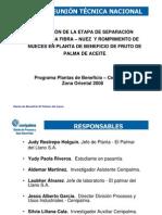 Evaluacion de La Etapa de Separacion Neumatica Fibra - Nuez y Rompimiento de Nueces...