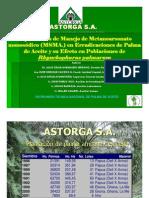 Experiencia de Manejo de MSMA en Erradicaciones de Palma de Aceite