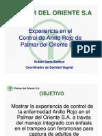 Experiencia en El Control de Anillo Rojo de Palmar Del Oriente s.A