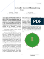 A General Architecture For Decision Making During Sports