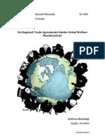 Do Regional Trade Agreements Hinder Global Welfare Maximization
