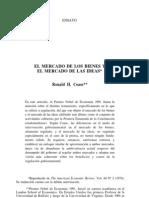 Coase - El Mercado de Los Bienes y El Mercado de Las Ideas