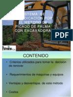 Sistemas de Erradicación Con El Método de Picado Con Excavadora