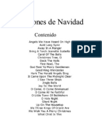 Canciones de Navidad, Para Acompañamiento Sencillo de Guitarra o Piano