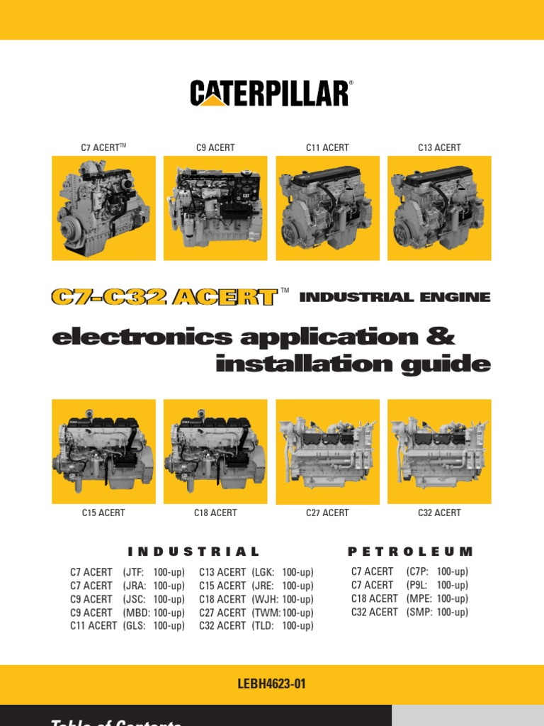 Ind Elec Inst Guide_LEBH4623-01 | Fuel Injection | Turbocharger