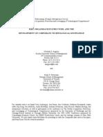 r&d Organization Structure