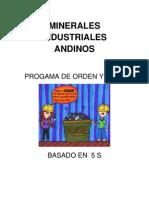 PROGAMA de ORDEN Y ASEO Minerales ales Andinos