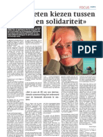 "Interview Rik Coolsaet - ""Kiezen tussen egoïsme en solidariteit"""