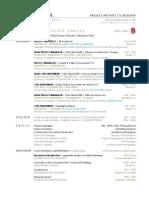 PROJECT ARCHITECT & DESIGNER Resume
