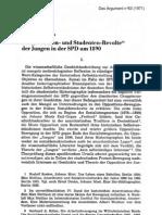 """Hans Manfred Bock - Die """"Literaten- und Studenten-Revolte"""" der Jungen in der SPD um 1890 (1971)"""