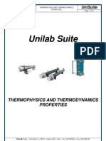Unilab Suite - Thermophysic and Thermodinamics Properties
