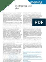 Kotan. Meer Schuld Geen Antwoord Op Crisis in Ontwikkelingslanden. Economisch Statistische Berichten 4562. (2009)