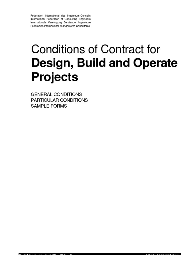 Conditions of contract fro design build and operate projects part conditions of contract fro design build and operate projects part 1 general contractor employment fandeluxe Images