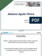 Abdome Agudo Clinico