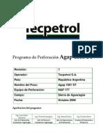 Programa de Perforación Agap 1001 ST