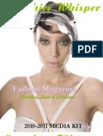 Media Kit Fashion Magazine Sapphire Whisper
