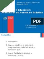 PPT MINEDUC Seminario Ed. 2011