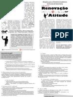 """Panfleto """"Renovação e Atitude"""""""