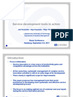 User driven service innovation tools