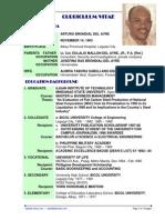 Arturo B. del Ayre's Curriculum Vitae & Resume