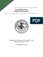 Investigacion de la Policia de Puerto Rico - Derechos Civiles (Resumen Ejecutivo) (Septiembre 2011)