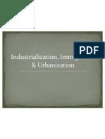 industrialization immigration urbanization