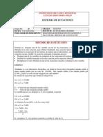 GUIA No. 20 METODO DE SUSTITUCIÓN