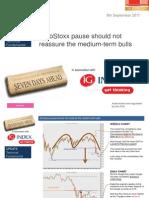 EuroStoxx Pause Should Not Reassure the Medium-term Bulls 8th September 2011 (m)