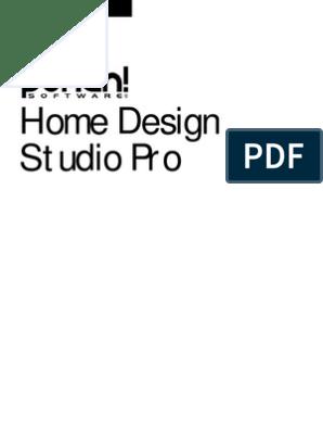 Home Design Studio Pro Manual Menu Computing 3 D Computer Graphics
