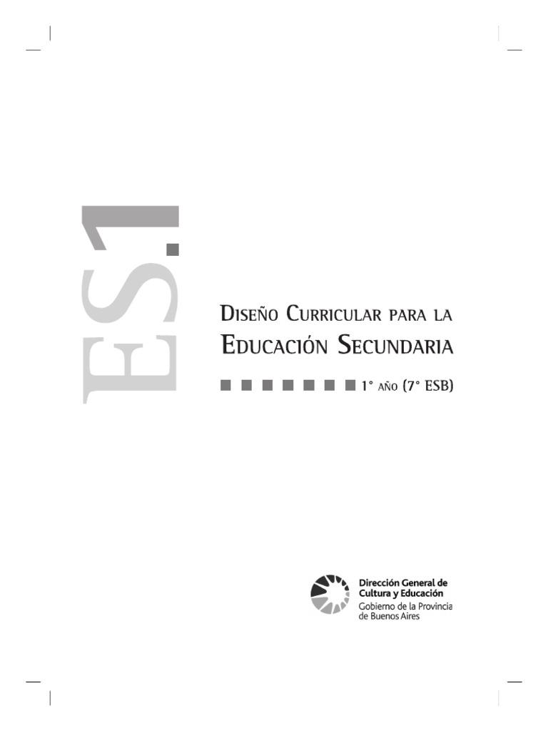 diseño curricular argentino