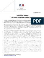 CP Déplacement de Laurent Wauquiez, une journée consacrée au logement étudiant 080911