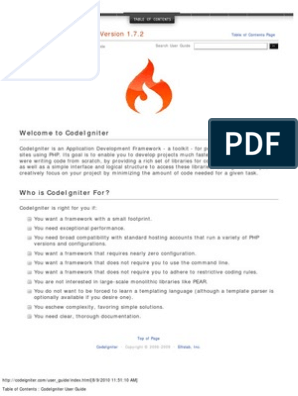 CodeIgniter User Guide Version 1 7 2 | Php | Html Element